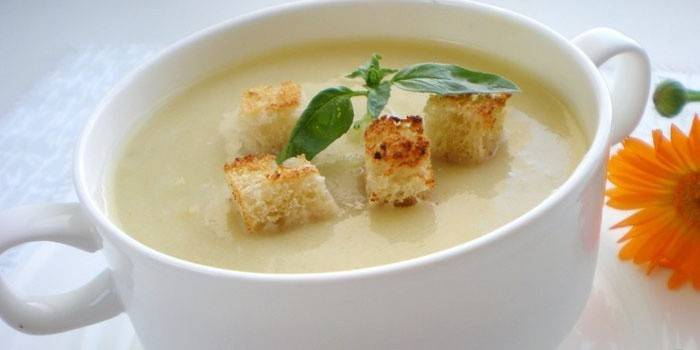 Суп-пюре з кабачків - приготування дієтичного страви