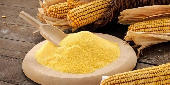 Кукурудзяне борошно - корисні властивості, склад, калорійність та приготування випічки