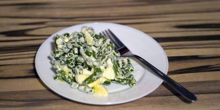 Салат із стручкової квасолі приготування смачних страв з фото