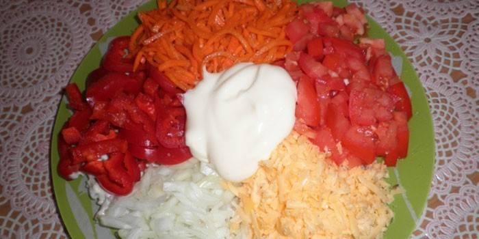 Салат з корейською морквою - смачні рецепти з фото