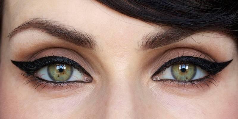 Види стрілок для очей - як зробити покроково і кому підійдуть класичні, широкі або східні