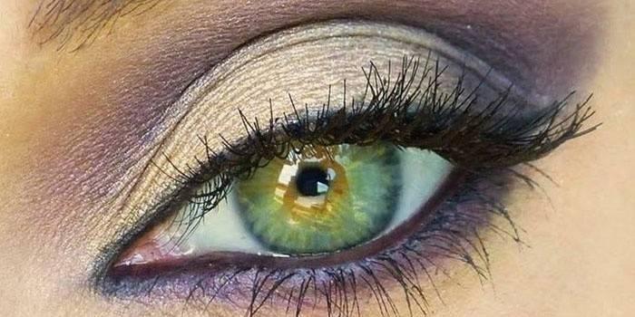 Макіяж для сіро-зелених очей вечірній і денний
