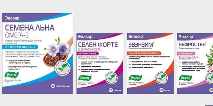 Евалар для схуднення - продукція компанії, опис препаратів з цінами і відгуками